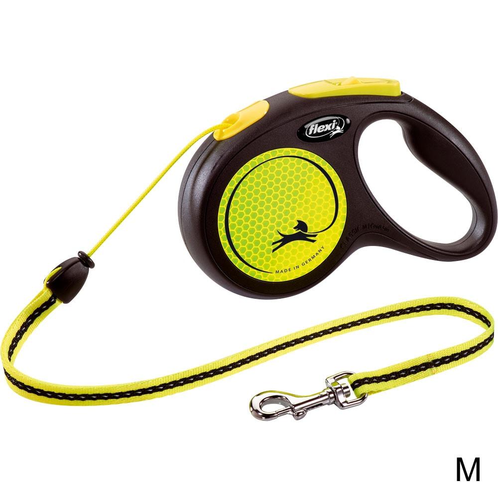 Reflective leash  Neon Flexi