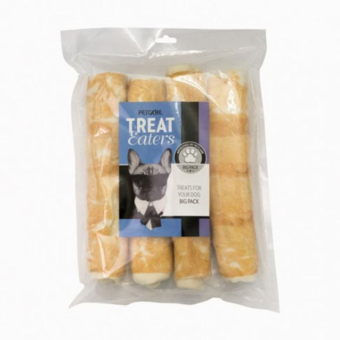 Dog chew 4-pack Chicken Roll Treateaters