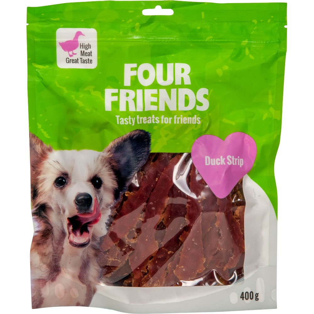 Dog treat  Duck Stripe 400 g FourFriends