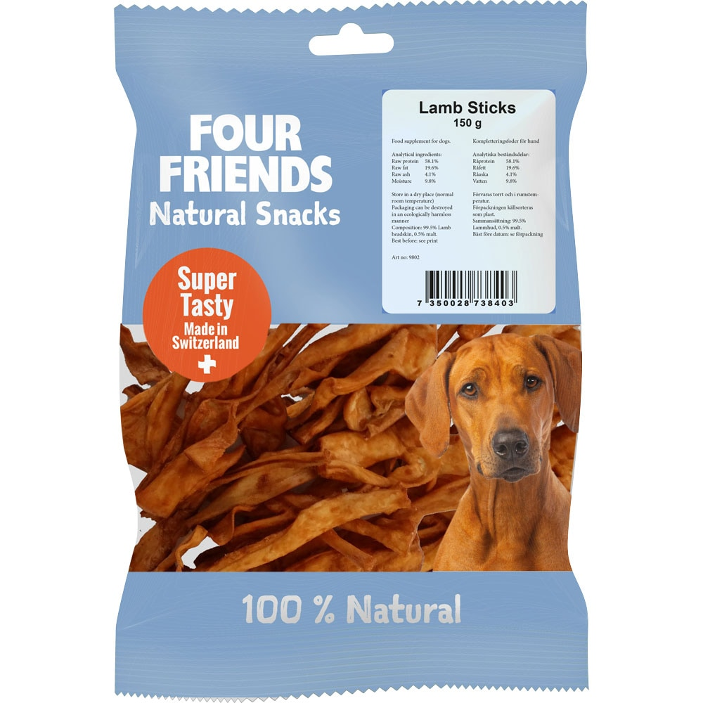 Natural dog chew  Lamb Sticks 150 g FourFriends
