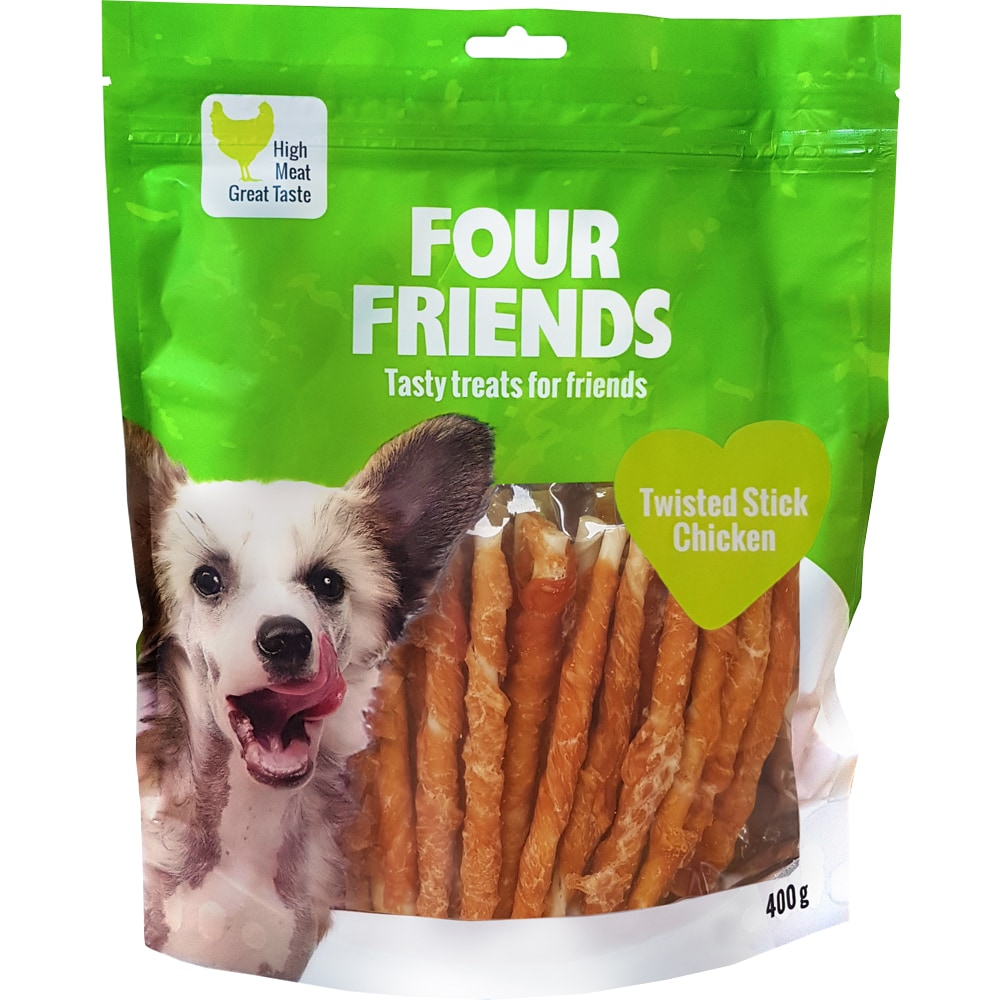 Dog chew  Twisted Stick Chicken 400 g FourFriends