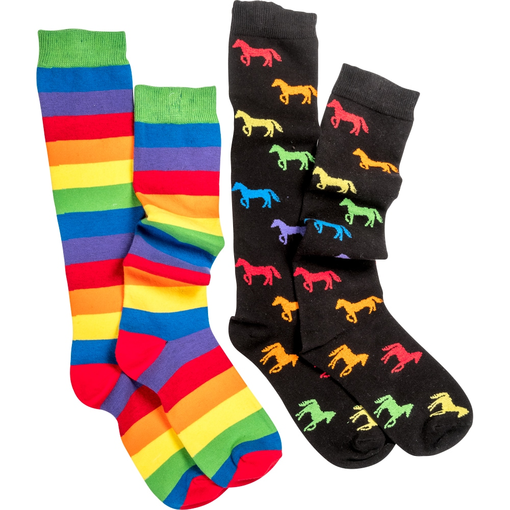 Riding socks 2 pair Rainbow CRW®