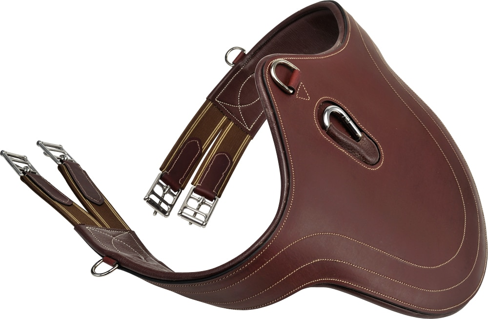 Leather girth with plate  Fairfield®