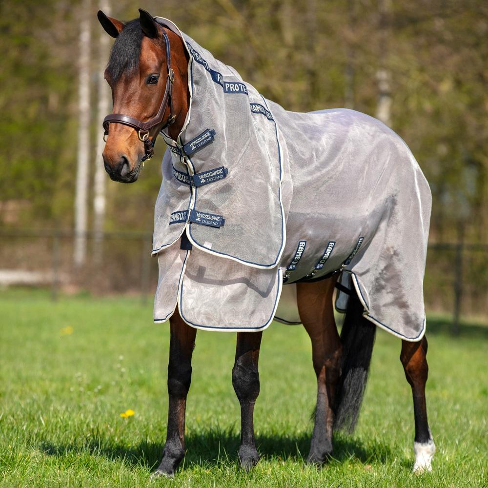 horsewear Irlande Amigo Bravo 12/Pluie Lite Tapis sans Cou Housse 167 cm Bleu Navy with Navy /& Electric Blue