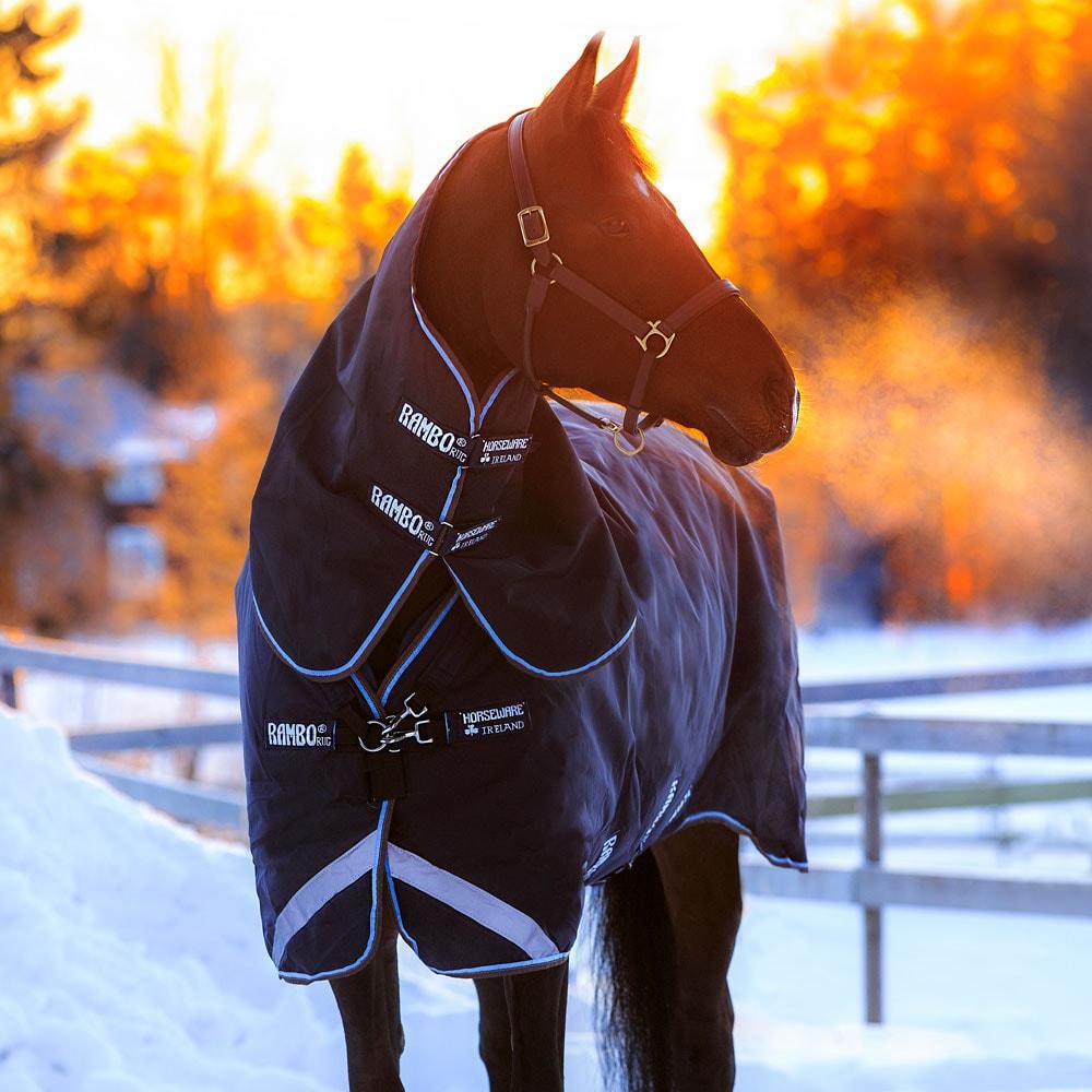 Winter rug with neck Rambo Duo Horseware®