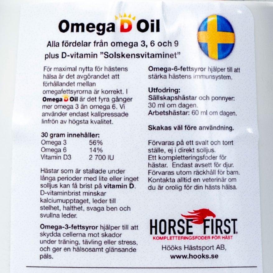Omega D Oil HORSE FIRST®