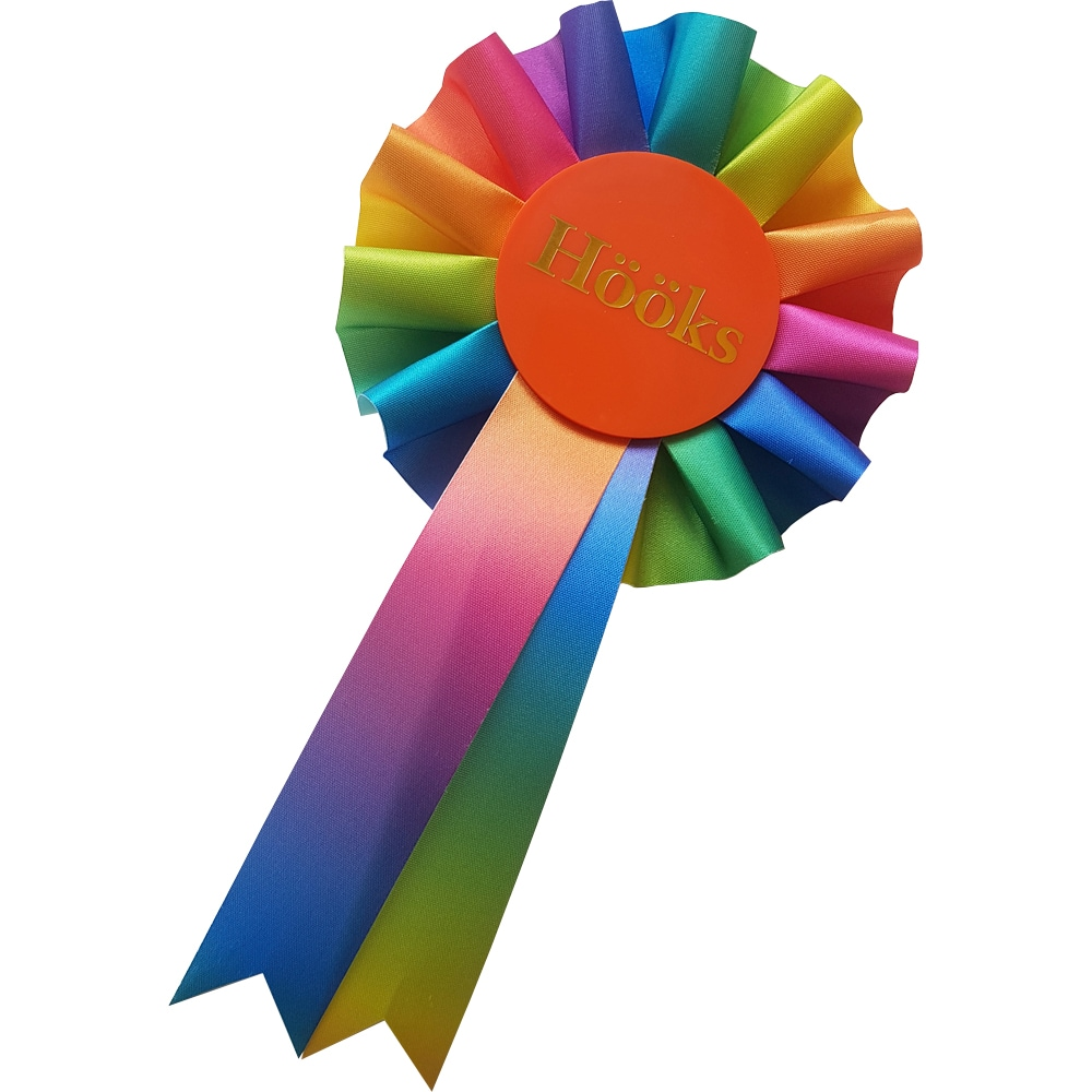 Prize rosette Hobby horse Rainbow Hööks