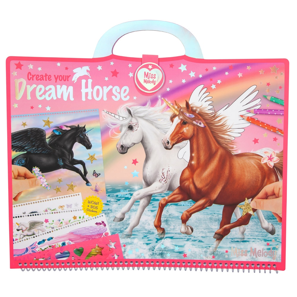 Coloring book  Dream Horse Miss Melody